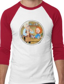 The Puppeteer and his doll  Men's Baseball ¾ T-Shirt