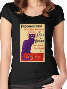 Chat de Cheshire Women's Fitted Scoop T-Shirt