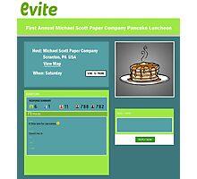 Pancake Luncheon Evite Photographic Print