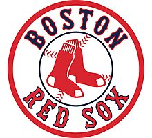 BOSTON RED SOX TEAM LOGO Photographic Print
