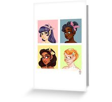 girl cube Greeting Card