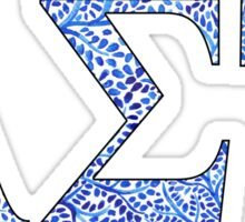 Alpha Sigma Tau Blue Plant Design Sticker