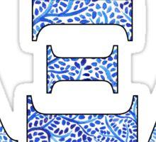 Alpha Xi Delta Blue Plant Design Sticker