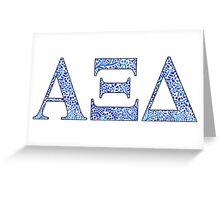 Alpha Xi Delta Blue Plant Design Greeting Card