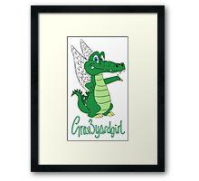 Grav3yardgirl Gator Design Framed Print