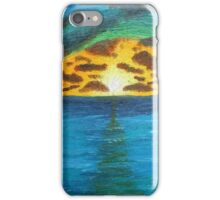 Sunset Over Troubled Waters iPhone Case/Skin