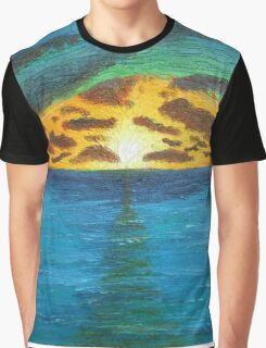 Sunset Over Troubled Waters Graphic T-Shirt