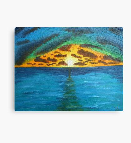 Sunset Over Troubled Waters Canvas Print
