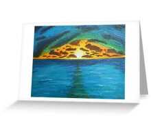 Sunset Over Troubled Waters Greeting Card