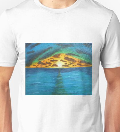 Sunset Over Troubled Waters Unisex T-Shirt