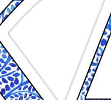Kappa Delta Blue Plant Design Sticker