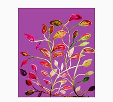 For Valentine's Day Enjoy Purple Plum, Red and Green Leaves! Unisex T-Shirt