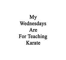 My Wednesdays Are For Teaching Karate  by supernova23