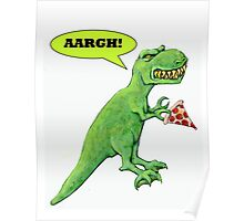 T-rex with Pizza Poster