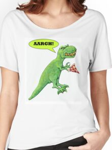 T-rex with Pizza Women's Relaxed Fit T-Shirt