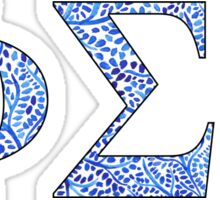 Phi Sigma Sigma Blue Plant Design Sticker