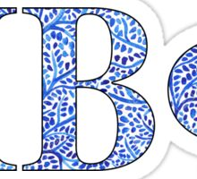 Pi Beta Phi Blue Plant Design Sticker