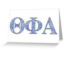 Theta Phi Alpha Blue Plant Design Greeting Card