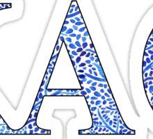 Kappa Alpha Theta Blue Plant Design Sticker