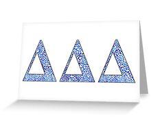 Delta Delta Delta Blue Plant Design Greeting Card