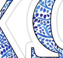 Chi Omega Blue Plant Design Sticker