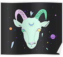 Cosmic Vegan Goat. Poster