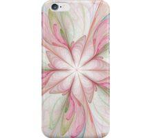Large Fractal pink reds floral print iPhone Case/Skin