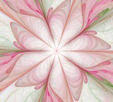 Large Fractal pink reds floral print Sticker