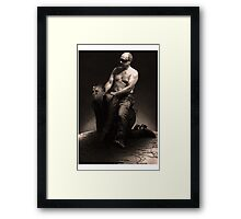 Putin riding Obama Framed Print