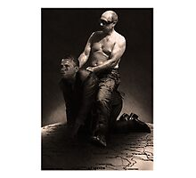 Putin riding Obama Photographic Print