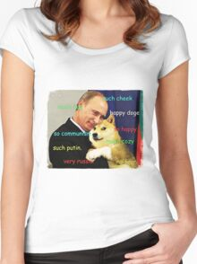 Putin doge Women's Fitted Scoop T-Shirt
