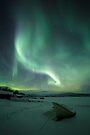Over Frozen Shores - Torneträsk, Sweden by Sean Farrow