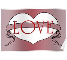 Chocolate Love Heart Design by Kat Worth Poster
