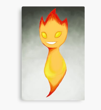 Flame Chibi (with background) Canvas Print