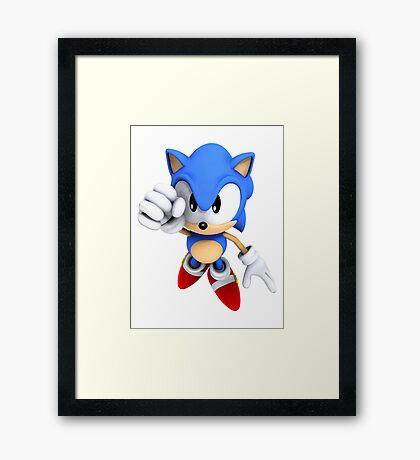 Classic Sonic Framed Print