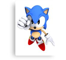 Classic Sonic Canvas Print