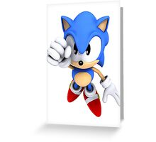 Classic Sonic Greeting Card