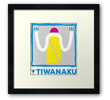 Say Hi! to people from Tiwanaku Framed Print