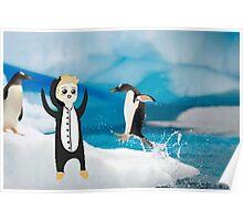 luke penguin Poster