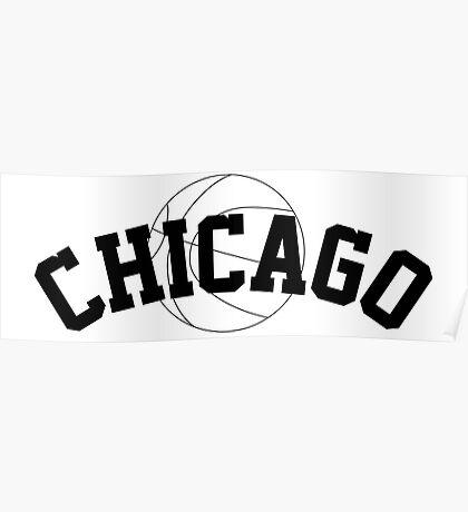 Chicago Basketball [BLACK] Poster