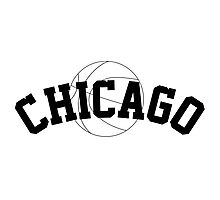 Chicago Basketball [BLACK] Photographic Print