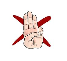 Three Finger Salute Photographic Print