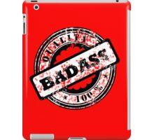 100% Quality Badass graphic iPad Case/Skin
