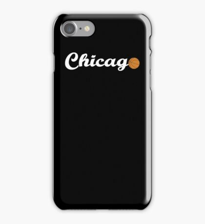 Chicago attached ball [WHITE] iPhone Case/Skin