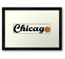 Chicago attached ball [BLACK] Framed Print