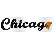 Chicago attached ball [BLACK] Poster