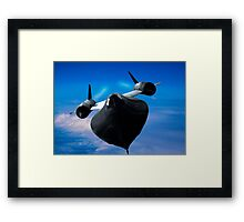 On the edge of space Framed Print