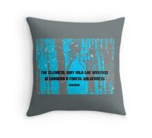 Forest Wilderness Emerson Quote  Throw Pillow