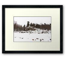 Winter rocks Framed Print