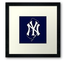 New york yankees- new jersey fan Framed Print